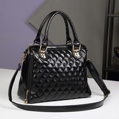 BOLIYASHI - Faux-Leather Quilted Satchel