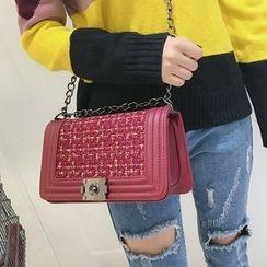 Youshine - Woven Panel Shoulder Bag