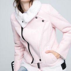 Coolvibe - Fleece-Lined Biker Jacket