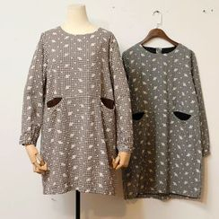 tete - Long-Sleeve Plaid Dress