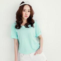 Tokyo Fashion - Cuffed Short-Sleeve T-Shirt