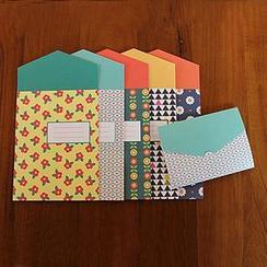 Zakka - Set of 5:  Greeting Cards