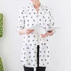 Nycto - Printed Long Shirt