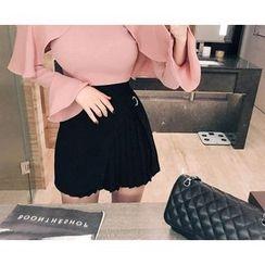 Marlangrouge - Layered Pleated Mini Skirt