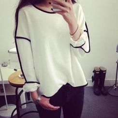 Flobo - Long-Sleeve Piped Top