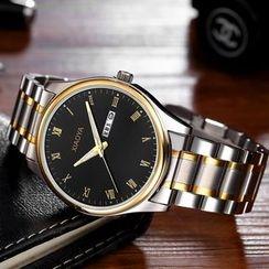 CYTH - 鋼帶夜光石英手錶