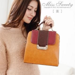 Miss Sweety - Twist-Lock Color-Block Satchel