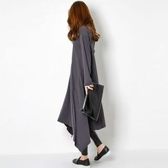 FASHION DIVA - Handkerchief-Hem Long T-Shirt Dress