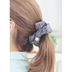 kitsch island - Bow Knit Hair Clamp