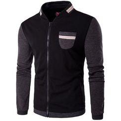 Fireon - Two-Tone Stand Collar Zip Jacket