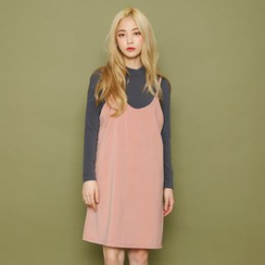 Envy Look - Spaghetti-Strap Pinafore Dress