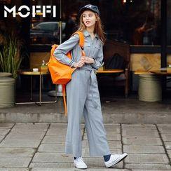 MOFFI - Wide-Leg Jumpsuit with Sash