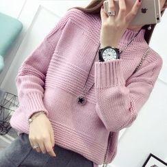 Hibisco - Plain Mock Neck Thick Sweater