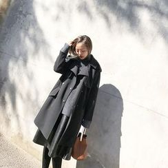forever fair - Double-Breasted Trench Coat