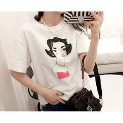 Marlangrouge - Short-Sleeve Printed T-Shirt