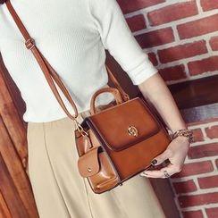 Albatross - Faux Leather Handbag with Shoulder Strap
