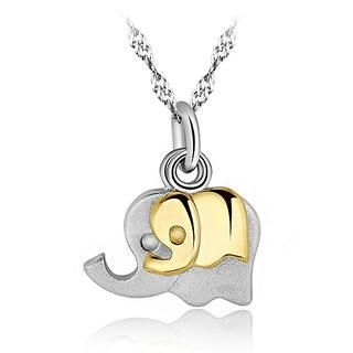 BELEC - 925 Sterling Silver Elephant Pendant with 45cm Necklace