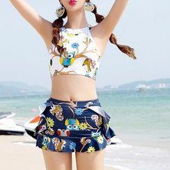 Sirene - 印花坦基尼泳衣套装