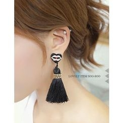 soo n soo - Tasseled Dangle Earrings