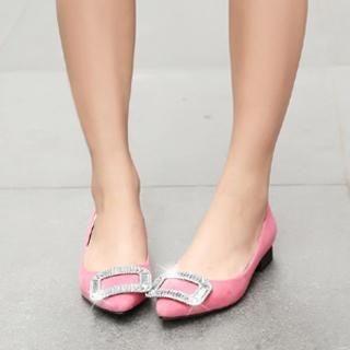 ZDJ Footwear - Rhinestone Metallic Flats