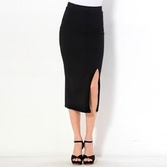 YesStyle Z - Slit-Side Maxi Skirt