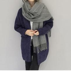 Kalamate - 流苏条纹围巾