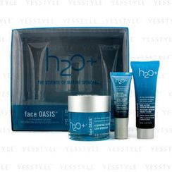 H2O+ - Face Oasis Daily Hydration System: Hydrating Treatment 50ml + Exfoliating Cleanser 30ml + Eye Moisture Replenishing Treatment (For Normal/ Oily Skin)