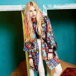 ELF SACK - Kimono-Sleeve Printed Coat
