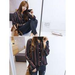 hellopeco - Long-Sleeve Striped Shirt