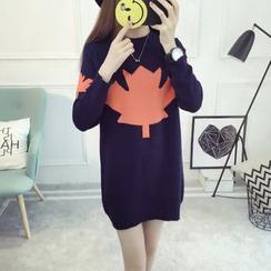 Mamaladies - Leaf Maternity Sweater Dress