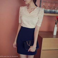 Loverac - Set: Lace Top + Skirt