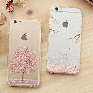 buy casei colour iphone 6 iphone 6 plus cherry blossom print transparent case yesstyle. Black Bedroom Furniture Sets. Home Design Ideas