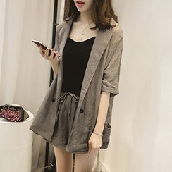 Little V - Set : Elbow-Sleeve Blazer + Shorts