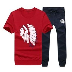 Bingham - Set: Printed Short-Sleeve T-Shirt + Sweatpants