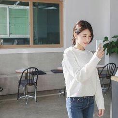 mimi&didi - Appliqué Wool Blend Sweater