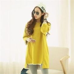 PIPPIN - Asymmetric-Hem T-Shirt Dress