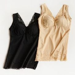 Fitight - Lace-Trim Shaping Tank Top