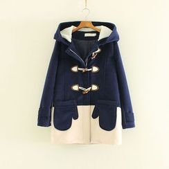 Mushi - Panel Hooded Toggle Coat