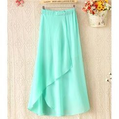 Ringnor - Asymmetric-Hem Maxi Skirt