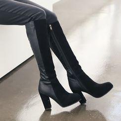 DANI LOVE - Two-Tone Tall Boots