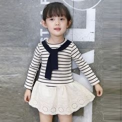 Merry Go Round - Kids Long-Sleeve Striped Dress