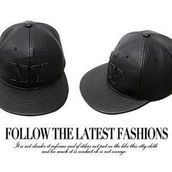 NANING9 - Faux-Leather Baseball Cap