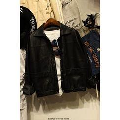 Elfina - Faux Leather Jacket
