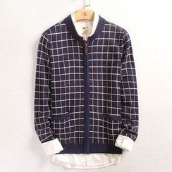 EDAO - Plaid Zip Jacket