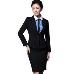 艾尚臣 - 套裝: 一粒扣西裝 + 鉛筆短裙