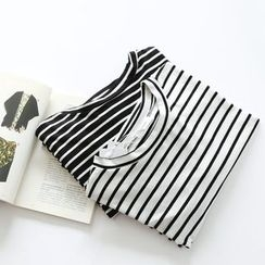 Bonbon - Striped Long-Sleeve T-Shirt