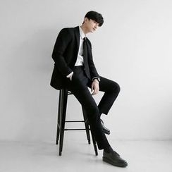 Seoul Homme - Wool-Blend Single-Breasted Jacket