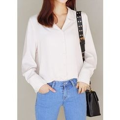 J-ANN - Notched-Collar Blouse