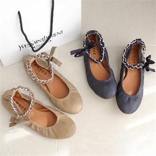 Styleberry - Chain Strap Flats
