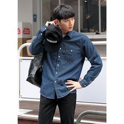 GERIO - Pocket-Front Denim Shirt